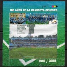 Sellos: 266- URUGUAY-2010 -100 AÑOS DE LA CAMISETA DE LA