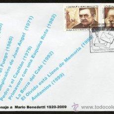 Sellos: 267-URUGUAY 2010- 90 AÑOS DEL NACIMIENTO DE MARIO BENEDETTI -MUY QUERIDO EN ESPAÑA. Lote 31234092