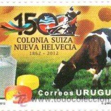 Sellos: 282- URUGUAY - 2012 50 AÑOS DE COLONIA SUIZA - NUEVA HELVECIA PLANCHA. Lote 31530482