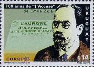 290 URUGUAY 1999- 100 AÑOS J´ACCUSE DE EMILE ZOLA (Sellos - Extranjero - América - Uruguay)