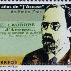 Sellos: 290 URUGUAY 1999- 100 AÑOS J´ACCUSE DE EMILE ZOLA. Lote 33390462