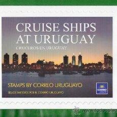 Sellos: URUGUAY 2012 -CRUCEROS -FOLDER- TEMÁTICA,TOPIC:FAROS,COLONIA DEL SACRAMETO,PTO. DEL BUCEO,FORTALEZA. Lote 33946907