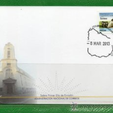 Sellos: 317A URUGUAY 2013 FDC- DERECHOS DE LOS TRABAJARES RURALES - TAMBERA. Lote 37226703