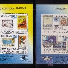 Sellos: URUGUAY HB 45** - AÑO 1993 - ANIVERSARIOS Y ACONTECIMIENTOS - AVIONES - ESPACIO - FUTBOL. Lote 37950856