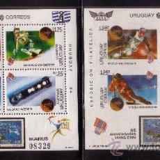 Sellos: URUGUAY HB 47** - AÑO 1994 - EXPOSICION FILATELICA INTERNACIONAL URUGUAY 94 - DEPORTES DE INVIERNO. Lote 37950863