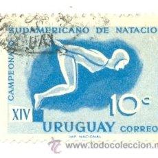 Sellos: 2URU-647. SELLO USADO URUGUAY. YVERT Nº 647. XIV CAMPEONATOS NATACIÓN. Lote 38788874