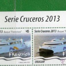 Sellos: URUGUAY-2013 SERIE CRUCEROS - BUQUE FRANCISCO VER DESCRIPCIONES. Lote 40997969