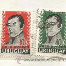 Sellos: URUGUAY 1992. GENERAL FRUCTUOSO RIVERA. Lote 41328624