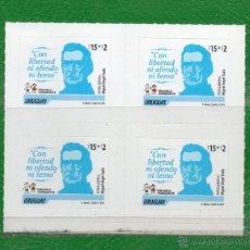 Sellos: URUGUAY 2014-FRASES FAMOSAS-250 AÑOS NATALICIO JOSÉ GERVASIO ARTIGAS-TT.: PRÓCERES,MILITARES,NIÑOS. Lote 43211494