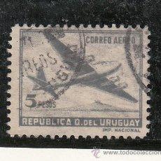 Sellos: URUGUAY A 135 USADA, AVION . Lote 43388795