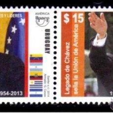 Sellos: URUGUAY 2014. EL LEGADO DE CHAVES. Lote 44899824