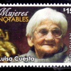Sellos: URUGUAY 2014. MUJERES NOTABLES. LUISA CUESTA. Lote 44899944