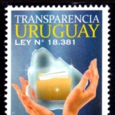 Sellos: URUGUAY 2014. TRANSPARENCIA URUGUAY. Lote 44899982