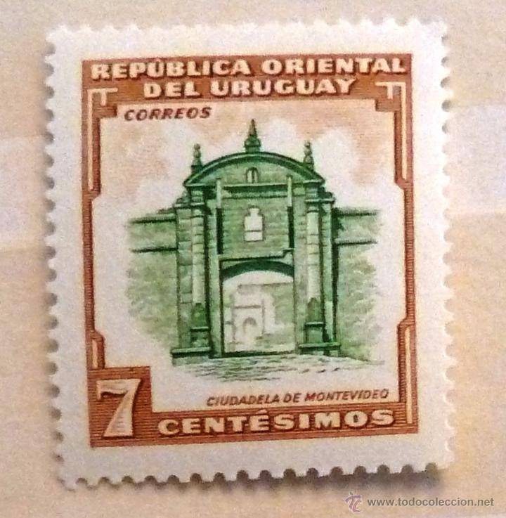 SELLOS URUGUAY 1954. NUEVO CON CHARNELA. CIUDADELA DE MONTEVIDEO. (Sellos - Extranjero - América - Uruguay)