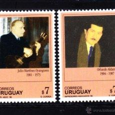 Sellos: URUGUAY 1842/43** - AÑO 1999 - ARTISTAS URUGUAYOS - MUSICA - LITERATURA. Lote 48895168