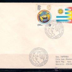 Sellos: URUGUAY- SOBRE CURCULADO DE MONTEVIDEO A MADRID. FECHA 20-5-1983. Lote 49221932