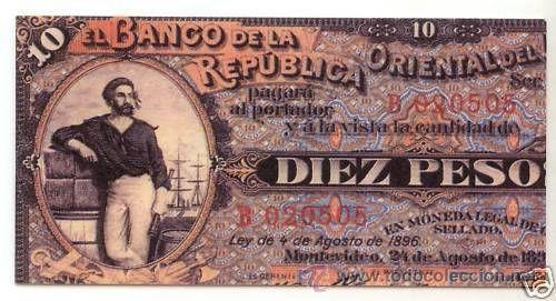 URUGUAY 1996 CARNET ANTIGUOS BILLETES NUEVO LUJO MNH *** SC (Sellos - Extranjero - América - Uruguay)
