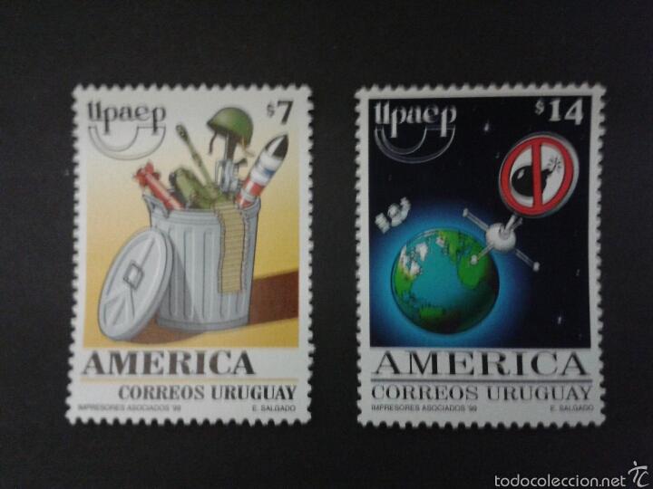 SELLOS DE URUGUAY. YVERT 1850/1. (AMÉRICA UPAEP). SERIE COMPLETA NUEVA SIN CHARNELA. (Sellos - Extranjero - América - Uruguay)
