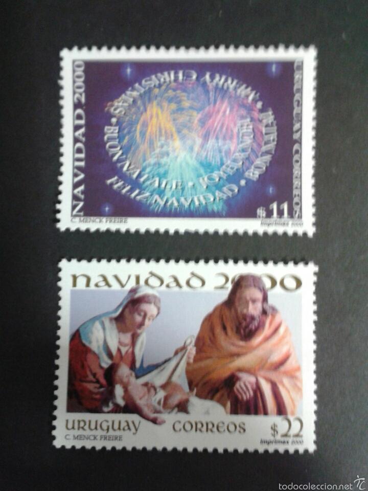SELLOS DE URUGUAY. NAVIDAD. YVERT 1935B/C. SERIE COMPLETA NUEVA SIN CHARNELA. (Sellos - Extranjero - América - Uruguay)