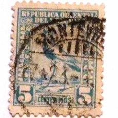 Sellos: SELLOS URUGUAY 1923. USADO CON CHARNELA. AVES.. Lote 53303882