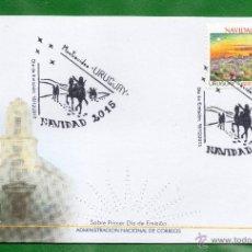 Sellos: URUGUAY-2015 NAVIDAD 2015 TT: SANTUARIOS,IGLESIAS,CIUDADES,ÁRBOLES,CASAS. Lote 53601051