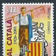 Sellos: URUGUAY 2001 75 AÑOS DEL CASAL CATALA. Lote 53650335