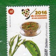 Sellos: URUGUAY-2016-AÑO INTERN. DE LAS LEGUMBRES-TT:FLORA,PLANTAS,ALIMENTOS,CUCHARAS,PLATOS. Lote 58716844