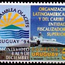 Sellos: URUGUAY 1994 FARO CERRO DE MONTEVIDEO. Lote 59520935