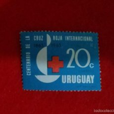 Sellos: URUGUAY,,,1964, RED CROSS CENTENARY 1V . Lote 59724259