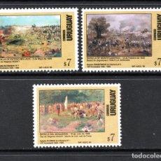 Sellos: URUGUAY 1814/16** - AÑO 1999 - ANIVERSARIOS DE BATALLAS. Lote 61796380