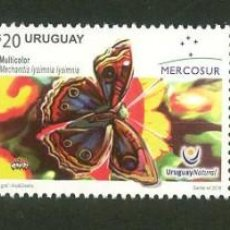 Sellos: URUGUAY-2016 SERIE MERCOSUR-MARIPOSAS TT: FLORA,FAUNA. Lote 62061264