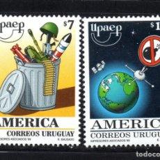 Sellos: URUGUAY 1850/51** - AÑO 1999 - AMÉRICA - UPAEP - UN NUEVO MILENIO SIN ARMAS. Lote 62318924