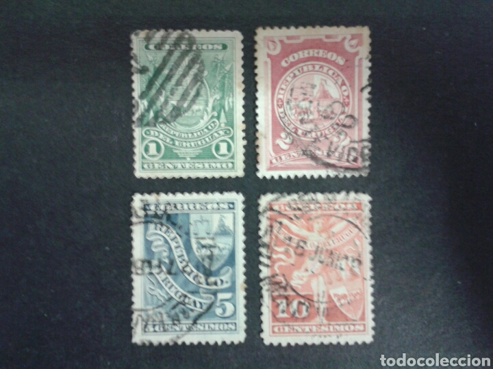 SELLOS DE URUGUAY. YVERT 88/91. SERIE COMPLETA USADA. (Sellos - Extranjero - América - Uruguay)