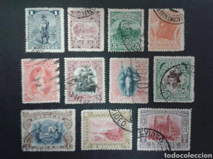 SELLOS DE URUGUAY. YVERT 120/30. SERIE COMPLETA USADA. (Sellos - Extranjero - América - Uruguay)