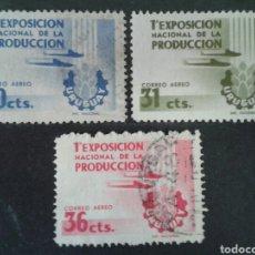 Sellos: SELLOS DE URUGUAY. AVIONES. YVERT A-147/9. SERIE COMPLETA USADA.. Lote 75107434