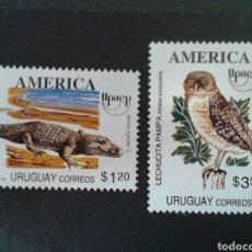 Sellos: SELLOS DE URUGUAY. YVERT 1463/4. SERIE COMPLETA NUEVA SIN CHARNELA. AMÉRICA UPAEP. FAUNA.. Lote 75108519