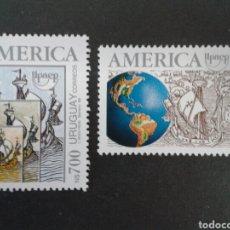 SELLOS DE URUGUAY. YVERT 1407/8. SERIE CTA NUEVA SIN CHARNELA. AMÉRICA UPAEP. DESCUBRIMIENTO.