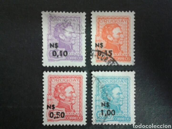SELLOS DE URUGUAY. YVERT 920/3. SERIE COMPLETA USADA. ARTIGAS. (Sellos - Extranjero - América - Uruguay)