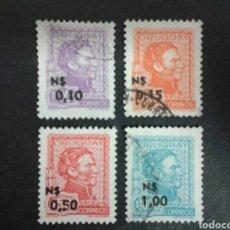 Sellos: SELLOS DE URUGUAY. YVERT 920/3. SERIE COMPLETA USADA. ARTIGAS.. Lote 76052115