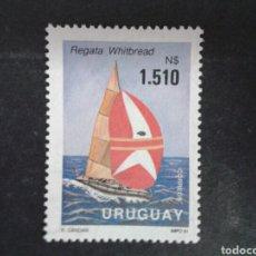 Sellos: SELLOS DE URUGUAY. YVERT 1363. SERIE COMPLETA NUEVA SIN CHARNELA. DEPORTES. VELA. Lote 79680711