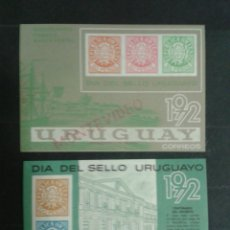 Sellos: URUGUAY. YVERT HB-22/3. SERIE COMPLETA NUEVA SIN CHARNELA. SELLOS SOBRE SELLOS.. Lote 104660026