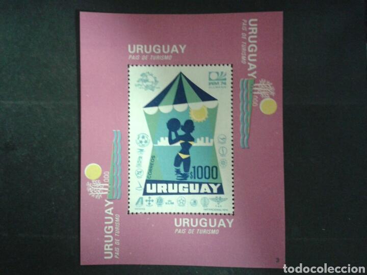 URUGUAY. YVERT HB-25A. SERIE COMPLETA NUEVA SIN CHARNELA. TURISMO (Sellos - Extranjero - América - Uruguay)