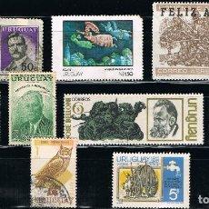 Sellos: URUGUAY - LOTE DE 10 SELLOS - VARIOS (USADO) LOTE 2. Lote 105721827
