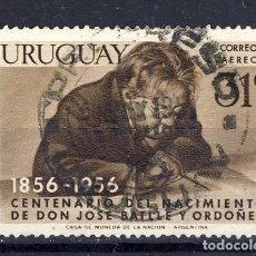 Sellos: URUGUAY.-CENTENARIO NACIMIENTO DE DON JOSÉ BATLLE Y ORDOÑEZ.-1856-1956.-. Lote 109295111
