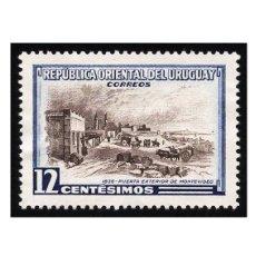 Sellos: URUGUAY 1954. MICHEL UY 784, YVERT 631. MURO, PUERTA EXTERIOR DE MONTEVIDEO. USADO. Lote 112878603