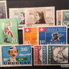 Sellos: LOTE 14 SELLOS/SERIES URUGUAY. NUEVOS. Lote 113959210