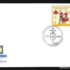 Sellos: 2004 CENTRO GALLEGO DE MONTEVIDEO SOBRE PRIMER DIA GALICIA GAITA BAILE TRAJE TIPICO SPD. Lote 117946907
