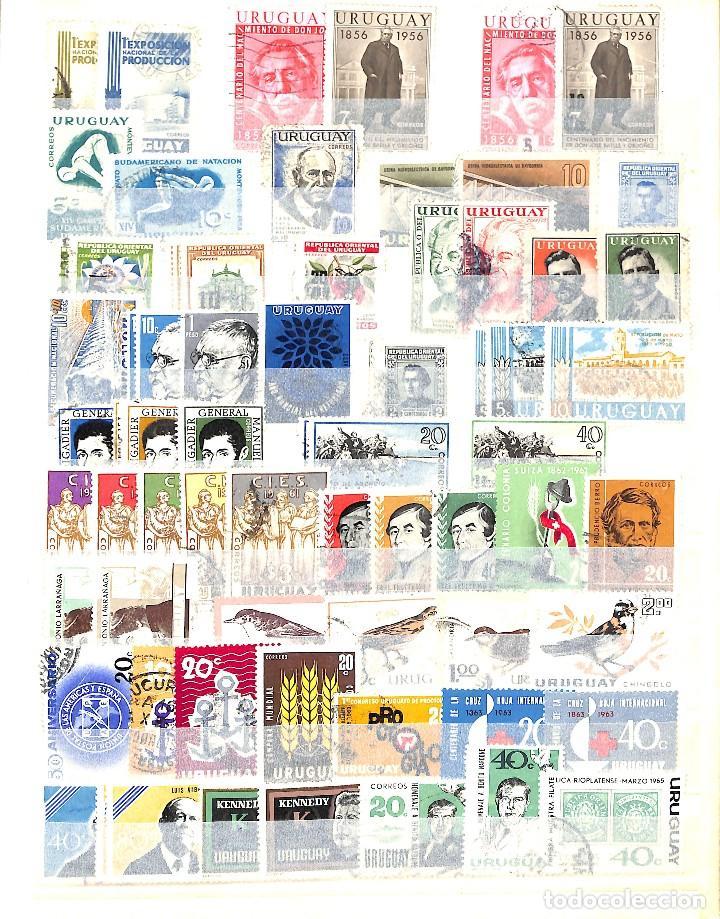 Sellos: URUGUAY, COLECCIÓN DE SELLOS , AÉREOS, OFICIAL, EN NUEVO Y USADO, - Foto 7 - 128812795