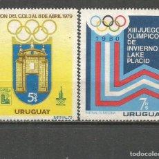 Sellos: URUGUAY YVERT NUM. 1014/1015 SERIE COMPLETA NUEVA SIN GOMA. Lote 133743634