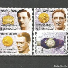 Sellos: URUGUAY YVERT NUM. 2253/2256 SERIE COMPLETA NUEVA SIN GOMA. Lote 133745670